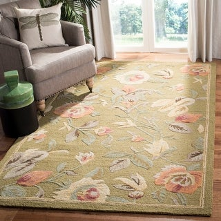 Link to Safavieh Handmade Blossom Avie Modern Floral Wool Rug Similar Items in Shabby Chic Rugs