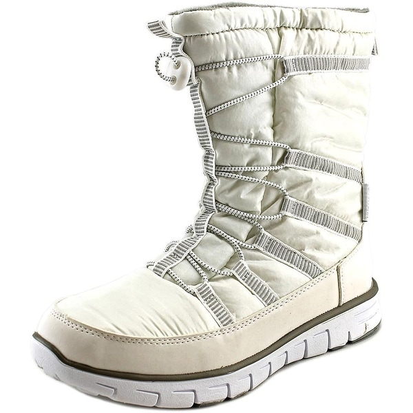 Khombu Alta Women  Round Toe Canvas White Snow Boot