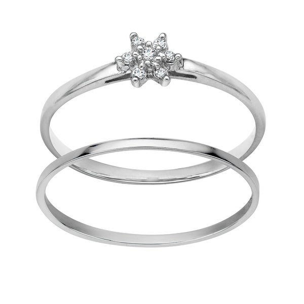 Bridal Set with Diamonds in 10K White Gold