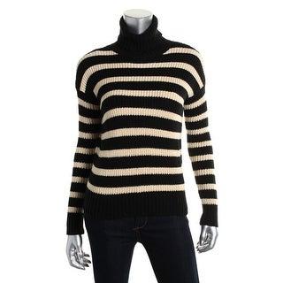 Denim & Supply Ralph Lauren Womens Cotton Striped Turtleneck Sweater - XL