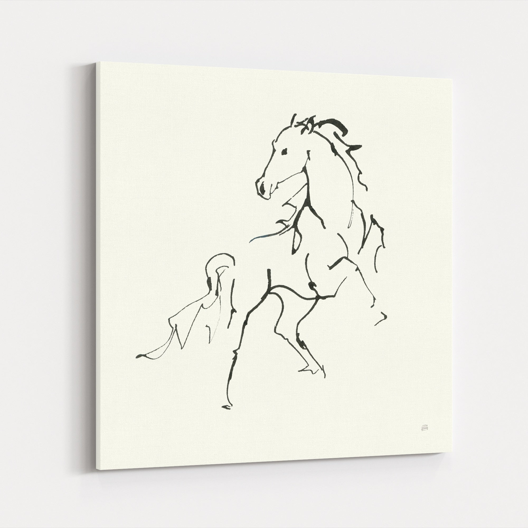 Shop Animals Horse Sketch Drawing Canvas Wall Art Print Overstock 31460731