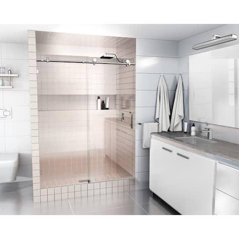 Glass Warehouse 52 in. - 56 in. x 78 in. Frameless Sliding Shower Door