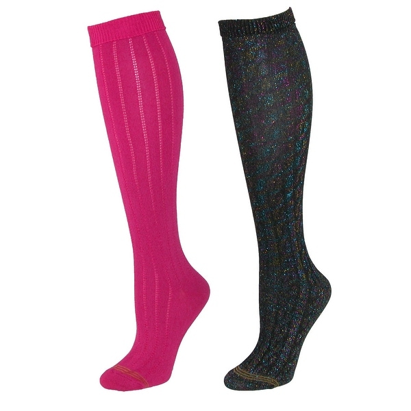 d4219120818 Shop Gold Toe Girl s Sparkle Cable Knit Knee High Socks (2 Pair Pack ...