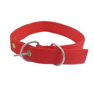 """Unique Bargains Unique Bargains 1"""" Width Red Nylon Puppy Doggie Pet Dog Leash Collar"""