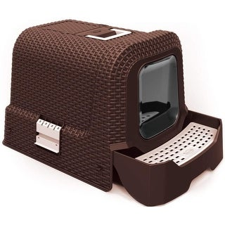 Link to Penn-Plax Deluxe Covered Litter Box with Removable Tray, Scoop, and Bags Similar Items in Litter & Housebreaking