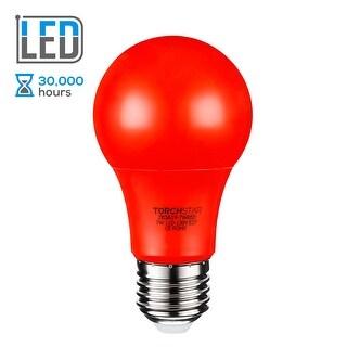 TORCHSTAR 7W Red LED A19 Colored Light Bulb, E26/E27 Base, 30,000hrs