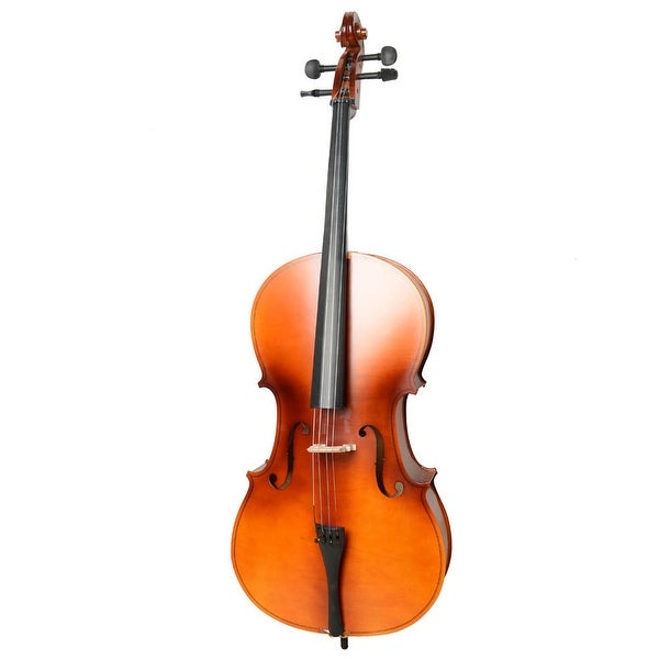 4/4 Acoustic Cello, Case, Bow, Rosin Wood Color