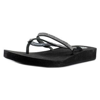 Yellow Box Atlantic Women Open Toe Synthetic Black Thong Sandal