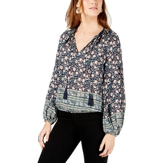 Lucky Brand Womens Peasant Top Floral Lace