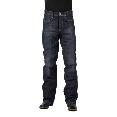 Stetson Western Denim Jeans Mens Modern Dark