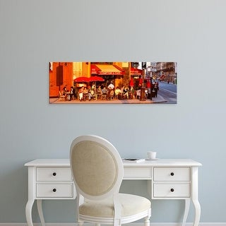 Easy Art Prints Panoramic Images's 'Cafe, Paris, France' Premium Canvas Art