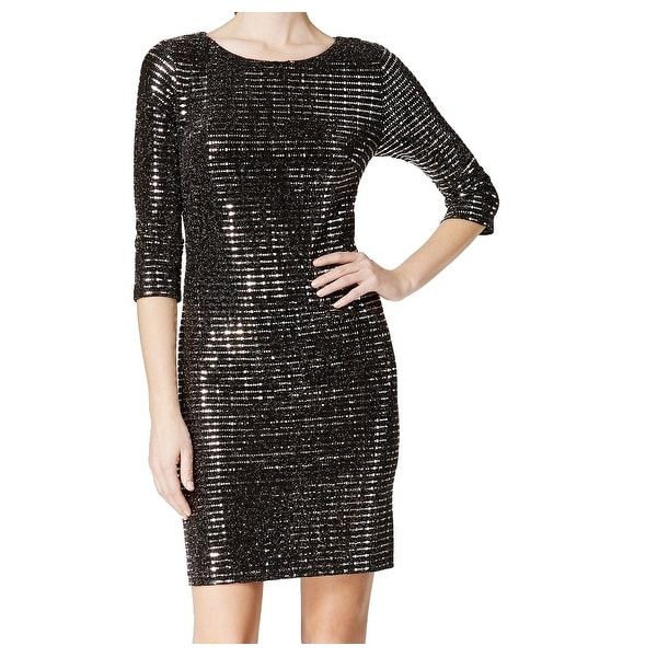 31e2d86bcaf1 Shop Jessica Howard NEW Black Silver Womens Size 16 Metallic Sheath Dress -  Free Shipping On Orders Over $45 - Overstock - 18283179