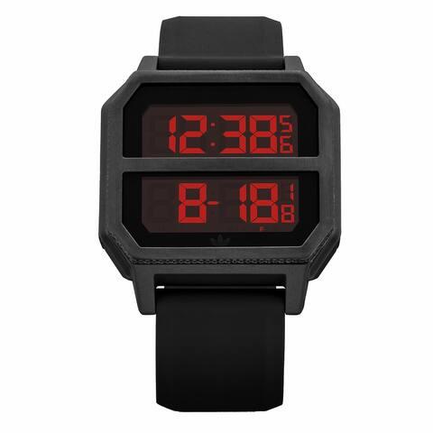 Adidas Men's Archive R2 Z16 760-00 Black Silicone Quartz Fashion Watch - Multicoloured