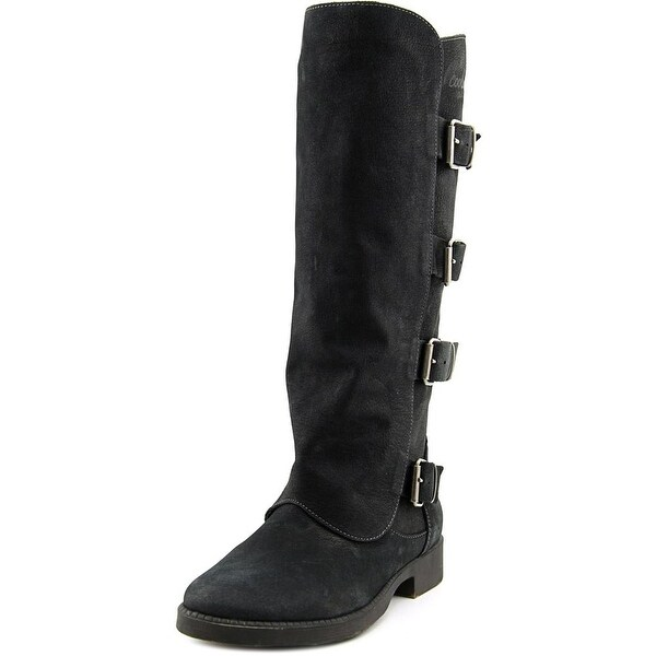 Coolway MC-26 Women Round Toe Leather Knee High Boot