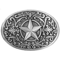 Western Star Silver Tone Belt Buckle