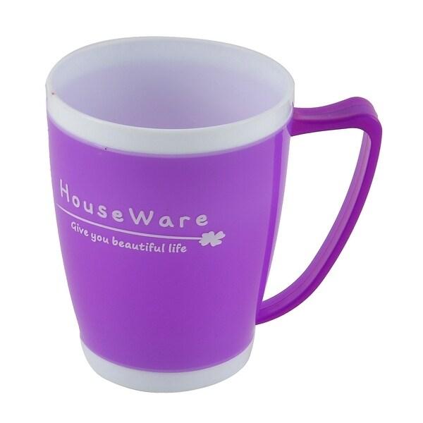 Home Bathroom Plastic Toothbrush Toothpaste Holder Gargle Cup Purple