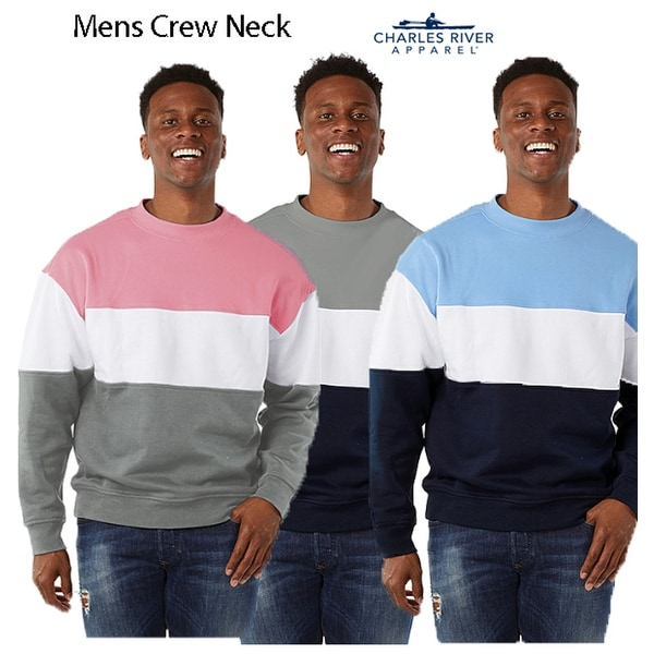 Mens Contemporary Crew Neck Relaxed Fit