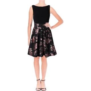 Lauren Ralph Lauren Womens Yukio Casual Dress Floral Print Pleated