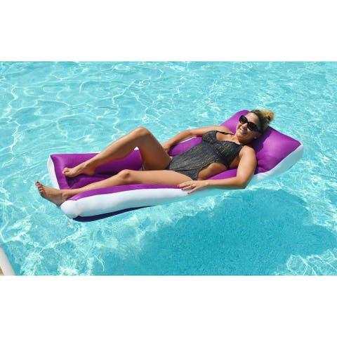 "68"" Jelly Aqua Cloud Purple Oversized Floating Mattress"