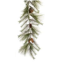 Pack of 2 Green and Brown Pine Cone Artificial Garlands 72""
