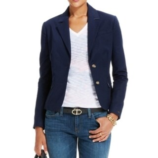 Tommy Hilfiger NEW Blue Masters Navy Women's Size 16 Two-Button Jacket