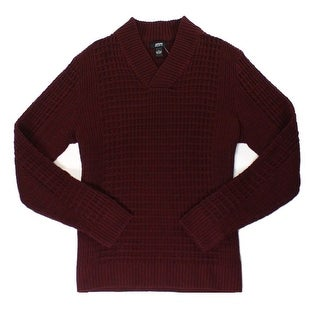 Alfani NEW Red Mens Size XL Shawl-Collar V-Neck Pull-Over Sweater