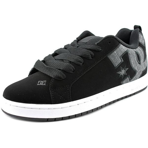 DC Shoes Court Graffik SE Men Round Toe Leather Black Skate Shoe