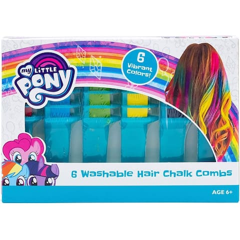 My Little Pony Unicorn Magic Hair Chalk Multicolor Combs 6 Pack, Toy - 5 Pack
