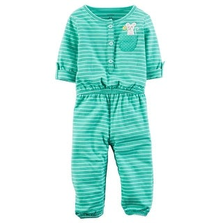Carter's Baby Girls' Embroidered Jumpsuit, 18 Months
