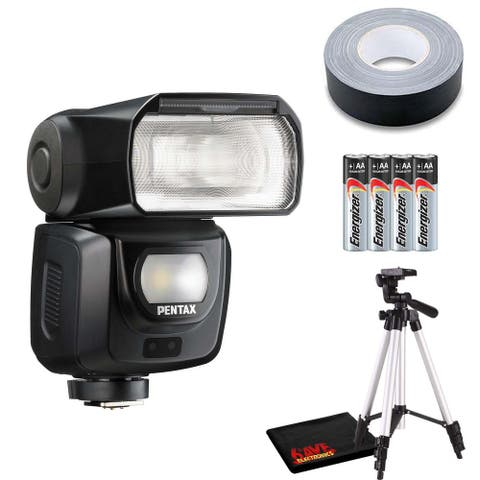 Pentax AF540FGZ II Flash with 4 x AA Batteries, Gaffer Tape and 72-In