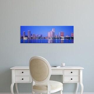 Easy Art Prints Panoramic Images's 'Dusk, Miami Florida, USA' Premium Canvas Art