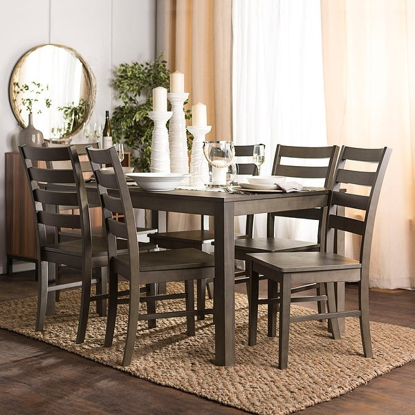 Shop Offex Homestead 7 Piece Classic Design Wood Dining