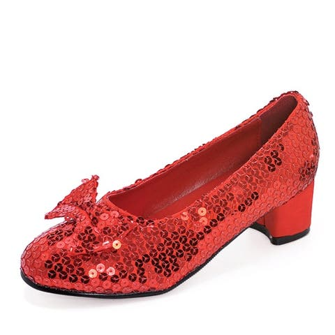 """Judy Girls Red Sequin 1.5"""" Shoes"""
