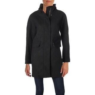 Vince Camuto Womens Petites Midi Coat Winter Wool - L