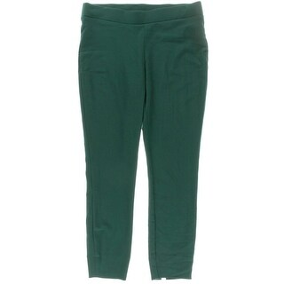 ECI Womens Stretch Solid Straight Leg Pants - XL