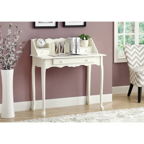 Monarch 3103 Antique White Traditional 36nch Desk
