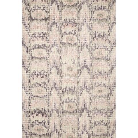 Alexander Home Nile Mosaic Ikat 100% Wool Hand Hooked Rug