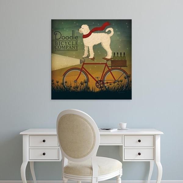 Easy Art Prints Ryan Fowler's 'White Doodle on Bike Summer' Premium Canvas Art