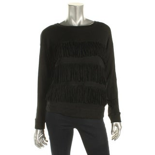 Soft Joie Womens Pullover Top Fringed Tiered