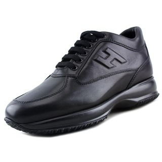 Hogan Interactive Uomo H Rilievo Round Toe Leather Sneakers
