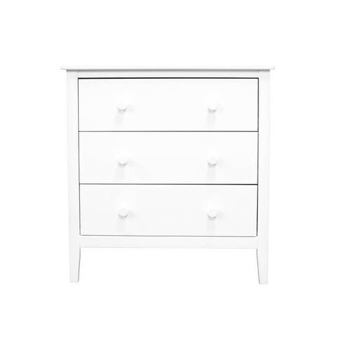 Adeptus Solid Wood Easy Pieces 3 Drawer Chest - White