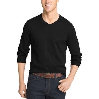 Izod Mens Field House Pullover Sweater Heathered V-Neck