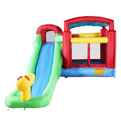 Costway Inflatable Moonwalk Water Slide Pool Bounce House Jumper Bouncer Castle Without Blower
