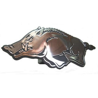 "Arkansas Razorbacks Hitch Cover Class III 2"" Chrome Film & Black"