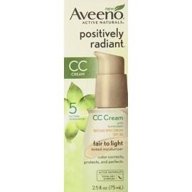 AVEENO Active Naturals Positively Radiant CC Cream Spectrum SPF 30 Fair to Light 2.50 oz