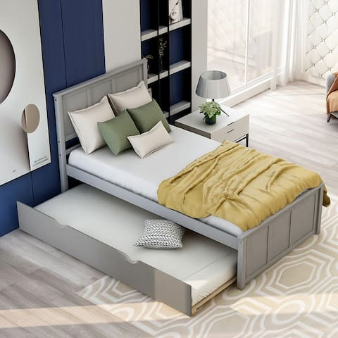 Platform Bed with Twin Size Trundle, Twin Size Frame