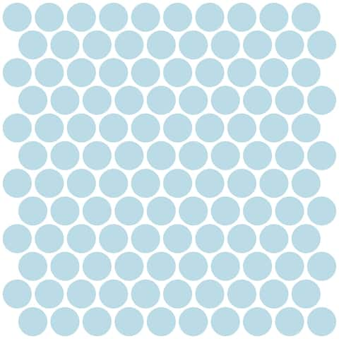 "Brewster NH2959 InHome 20"" x 20"" - Penny Tile Wall Decorating Kits - Blue"