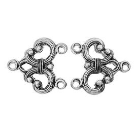 Nunn Design Strand Reducer, 2-1 Reducer 16x16.5mm.5, 2 Pieces, Antiqued Silver Plated