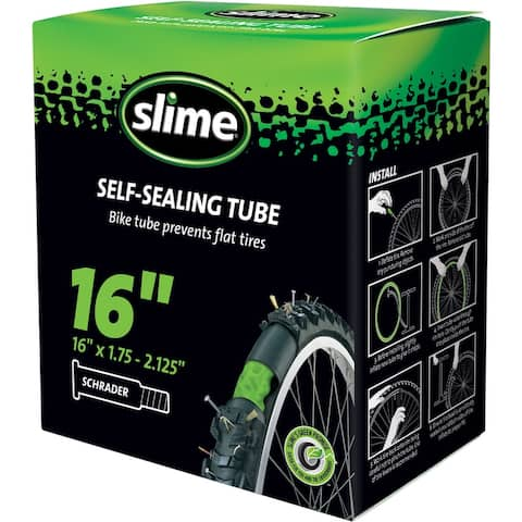 Slime 30051 Smart Tube Self-Sealing Bicycle Inner Tube, 16""