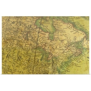 """""""Map of Canada and United States"""" Poster Print"""